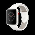 Apple Watch Edition Series 3 - Keramikgehäuse, Weiss, mit Sportarmband - 38 mm - GPS + Cellular - Soft Weiss/Kiesel