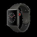 Apple Watch Edition Series 3 - Boîtier en céramique gris avec Bracelet Sport - 38 mm - GPS + Cellular - gris/noir