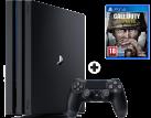 Sony PS4 Pro + Call of Duty WWII (Französisch) - Spielkonsole - Schwarz