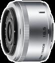 Nikon 1 NIKKOR 18.5 mm f/1.8, silber