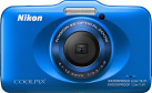 Nikon Coolpix S32, 13.2 MP, Blu