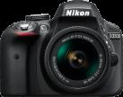 Nikon D3300, AF-P VR DX 18-55 mm, nero