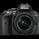 Nikon D5300, AF-P VR DX 18-55 mm, nero