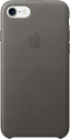 Apple iPhone 7 Leder Case - Grau