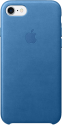 Apple iPhone 7 Leder Case - Meerblau