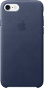 Apple Coque en cuir iPhone 7 - bleu nuit