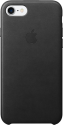 Apple iPhone 7 Leder Case - Schwarz