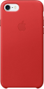 Apple iPhone 7 Leder Case - Rot