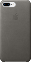 Apple Coque en cuir iPhone 7 Plus - gris