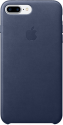 Apple Coque en cuir iPhone 7 Plus - bleu nuit