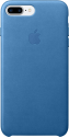 Apple iPhone 7 Plus Leder Case - Meerblau