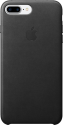 Apple iPhone 7 Plus Leder Case - Schwarz