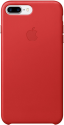 Apple iPhone 7 Plus Leder Case - Rot