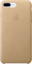 Apple iPhone 7 Plus Leder Case - Mandel