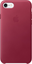 Apple iPhone 7 Leder Case - Rotwein