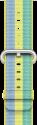 Apple Bracelet en nylon tissé 38 mm - Jaune