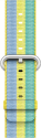 Apple 42 mm Armband aus gewebtem Nylon - Gelb