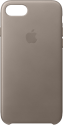 Apple Custodia in pelle - Per iPhone 7/8 - Grigio talpa