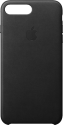 Apple Leather Case - Per Apple iPhone 7/8 Plus - Nero