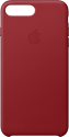 Apple Leather Case - Per Apple iPhone 7/8 Plus - Rosso
