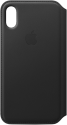 Apple Leder Folio - Noir
