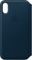 Apple Leder Folio - Bleu cosmos