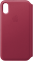 Apple Leder Folio - Fruits rouges