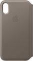 Apple Leder Folio - Taupe