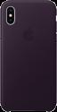 Apple Leather Case - Für iPhone X - Dunkelaubergine