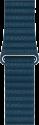 Apple 42 mm Lederarmband mit Schlaufe - Grösse Medium - Kosmosblau