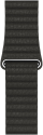 Apple 42 mm Lederarmband mit Schlaufe - Grösse Large - Anthrazit
