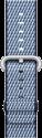 Apple Bracelet en nylon tissé - Taille 38 mm - Bleu nuit (quadrillé)