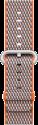 Apple Bracelet en nylon tissé - Taille 38 mm - Orange curcuma (quadrillé)