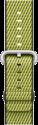 Apple Bracelet en nylon tissé - Taille 38 mm - Olive sombre (quadrillé)