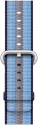 Apple Bracelet en nylon tissé - Taille 38 mm - Bleu nuit (rayé)