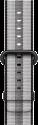 Apple Armband aus gewebtem Nylon - Grösse 42 mm - Schwarz (gestreift)