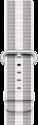 Apple Armband aus gewebtem Nylon - Grösse 42 mm - Weiss (gestreift)