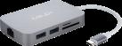 MINIX NEO C - USB-C Multiport Adapter - Silber