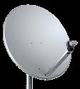Radio-Material  Raptor 80 CM - SAT-Antenne - Weiss/Silber