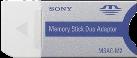 SONY MemoryStick Adapter - Grau