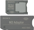 SONY MemoryStick Adapter 2-1 Set - Gris