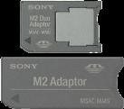 SONY MemoryStick Adapter 2-1 Set - Gris