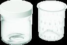 Cuisinart YM402E - Lot de 2 x 250 ml Pots Faisselle avec couvercle