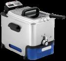 Tefal FR8040 Oleoclean Inox & Design - Friteus zones froides - Filtration automatique et conservation de l'huile - noir/argent