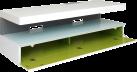 ERARD 35412 Ice Box - Meuble TV - Max. 30 kg - Blanc