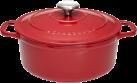 Chasseur 84147223 - Cocottes rondes - 3 l - Rouge