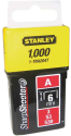 STANLEY Punti Tipo A - 6 mm - 1000 pezzi