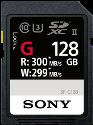 SONY SF-G UHS-II - 128 GB - Nero