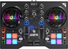 Hercules DJControl Instinct P8 - Controller DJ a doppio banco - Interfaccia audio integrata - nero