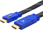 Bigben High Speed HDMI flat cable - Für PS3/PS4 - Schwarz/Blau